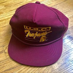 Red Burgundy Maroon USC Vintage Baseball Hat Cap
